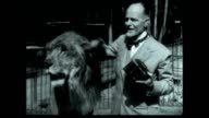 Travelogue adventurer Burton Holmes takes a moment with Leo The MGM Lion The reel also had the name Jackie the Lion Jungleland USA is the current...