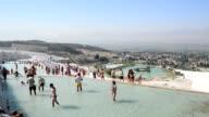 Travertine pools in Pamukkale