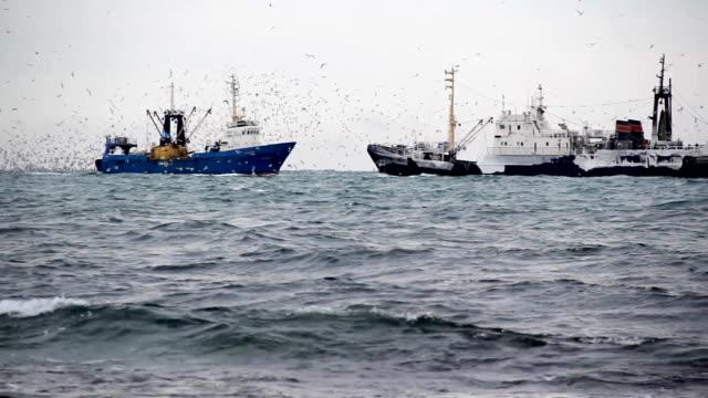 trawlers in the North Sea
