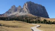 Tre Cime di Lavaredo mountains in the Dolomites, Bolzano Italy.