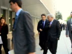 Treasury Secretary Timothy Geithner and IMF Managing Director Dominique StraussKahn arriving at the IMF / Washington DC United States / AUDIO