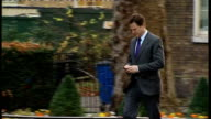 cabinet arrivals ENGLAND Downing Street EXT **Christmas tree outside 10 Downing Street** William Hague MP arrival/ Patrick McLoughlin MP arrival with...