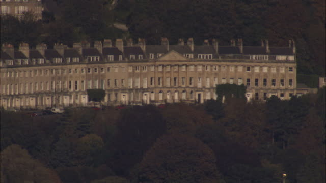 Treetops overlook the Royal Crescent. Available in HD.