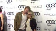 Trevor Donovan Rachael Harris at the Audi And Martin Katz Celebrate The 2012 Golden Globe Awards in West Hollywood CA