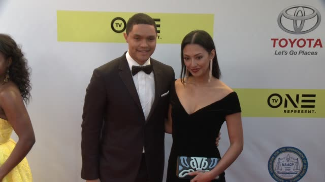 Trevor Noah and Jordyn Taylor at 48th NAACP Image Awards at Pasadena Civic Auditorium on February 11 2017 in Pasadena California