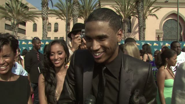 Trey Songz on his nomination how he became successful at the 2008 BET Awards at Los Angeles California
