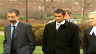 Woolwich Crown Court EXT Adel Yahya along with legal team Back View Yahya and legal team into court