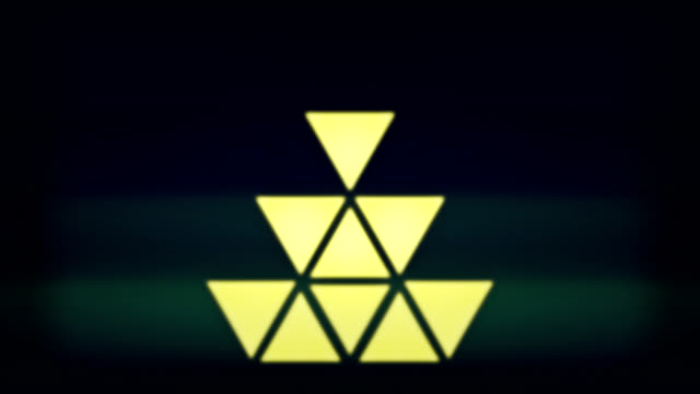 Triangle pixel lights