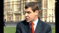 Nigel Griffiths resigns ENGLAND London Westminster EXT Nigel Griffiths interview SOT On why he resigned