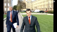 Nigel Griffiths resigns ENGLAND London Westminster EXT Nigel Griffiths along with unidentifed man