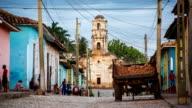 Trinidad Cuba Street Scene with Church of Santa Ana