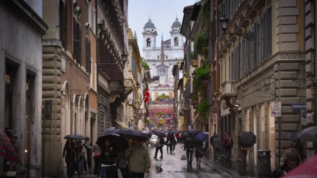 Trinita dei Monti from the street Via Dei Condotti