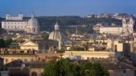Trinita dei Monti, San Carlo al Corso and another dome from across the river