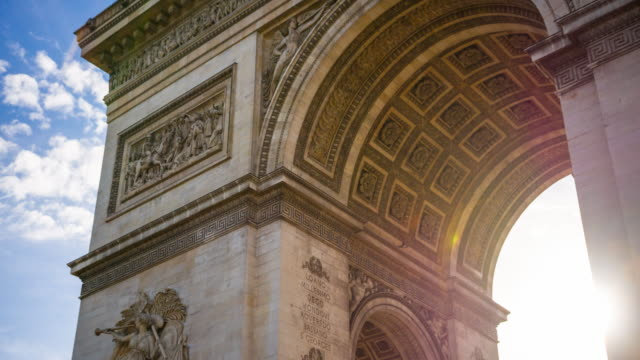 Triumphal Arch in the center of Place Charles de Gaulle in Paris