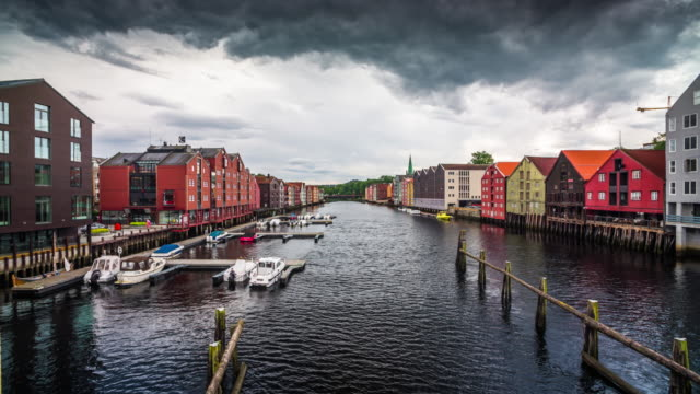 Trondheim city, Norway - 4K Cityscapes, Landscapes & Establishers