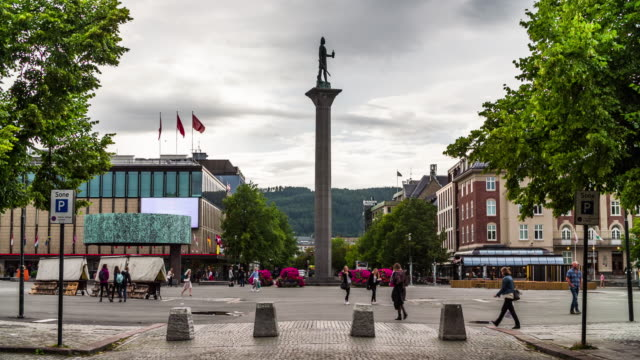 Trondheim town square in Norway