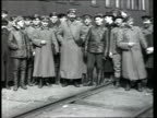 1918 B/W WS PAN Troops standing at inspection in Gzhatsk during Russian civil war/ Gagarin, Russia