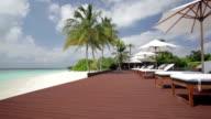 tropical beach pool area