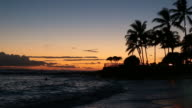 Tropical Beach Sunset in Kauai, Hawaii