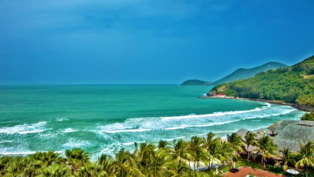 Tropical hotel beach