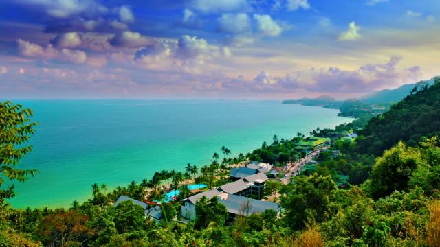 Tropical island, air-view