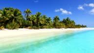 Tropische Insel und den palm beach Lagune