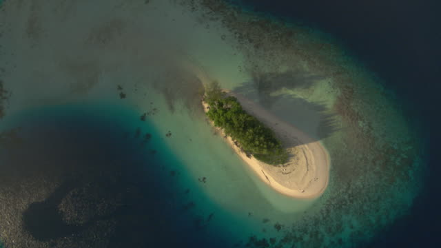 Tropical island, coral reef and coast beyond, Guadalcanal, Solomon Islands