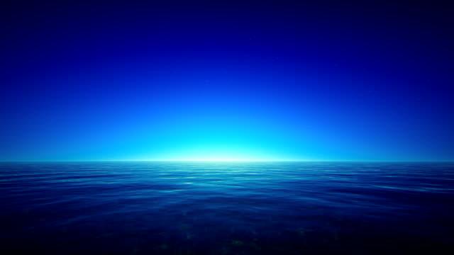 Tropical ocean at night