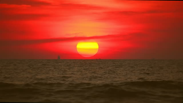 Tropical sunset beach