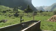 MS Trough in mountains / Appenzell, Appenzell Innerhoden, Switzerland