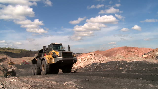 truck in a coal mine
