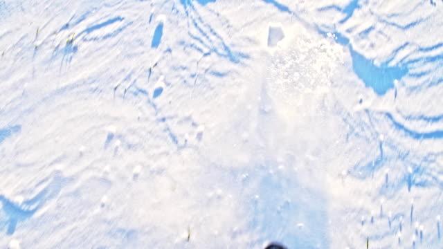 POV Trudging Through Snow