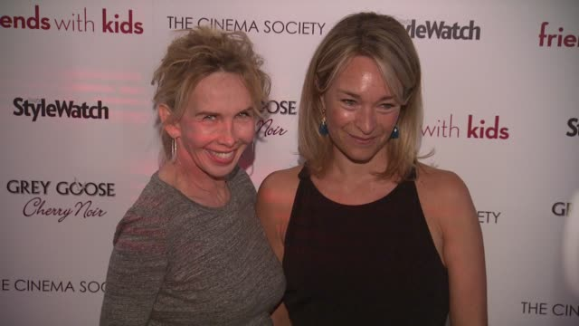 Trudie Styler and Celine Rattray at 'Friends With Kids' New York Special Screening on 3/5/2012 in New York NY United States