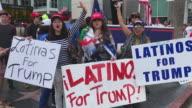 Trump Supporters Rally Latinas4Trump Los Angeles