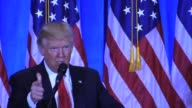 Trump Tower Pres Elect Donald Trump press conference says 'You're Fired' try to film folders blocked by secret service