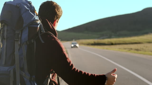 Ttourist hitchhiking
