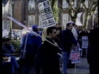 Tuition fees protests at Liverpool University ENGLAND Liverpool Liverpool University Students demonstrating outside Liverpool University against...