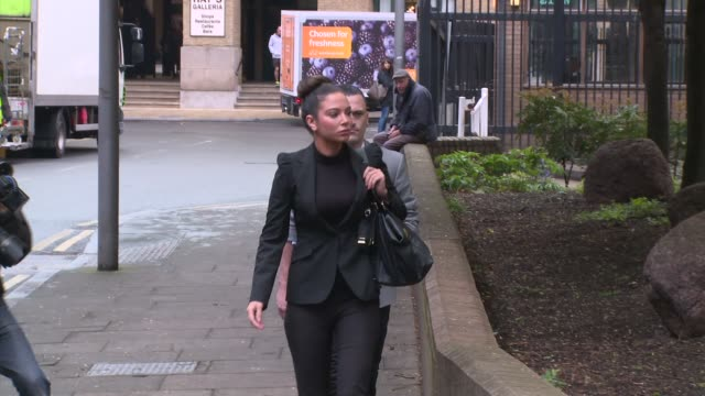 Tulisa Contostavlos at Tulisa Contostavlos Court Appearance at Southwark Crown Court on April 22 2014 in London England