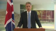 Philip Hammond press conference AUSTRIA Vienna INT Philip Hammond statement SOT We have today decided to change our travel advice for Tunisia to...
