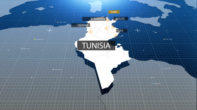 tunisia map with label then with out label