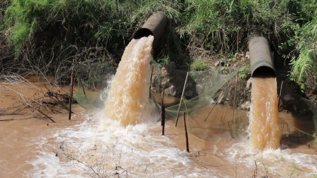 Turbid water outflow pipe.