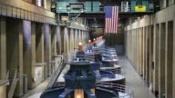 Turbines spin inside hydroelectric generators at the Hoover Dam in Boulder City Nevada U S A turbine spins inside hydroelectric generators at the...