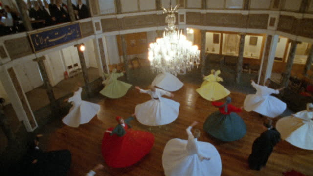 HA, TD, Turkey, Istanbul, Whirling Dervishes, overhead view