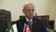 The speakers of Turkey and Pakistan's parliaments stress on March 27 2017 the 'close bonds' between what they described as two 'friendly countries'...