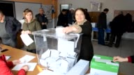 Turkeybased Bulgarian citizens cast their ballots for the Bulgarian parliamentary elections at a polling station in Yalova Turkey on March 26 2017...