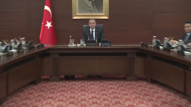 Turkey's council of ministers to meet under the chairmanship of Presidentelect and Prime Minister Recep Tayip Erdogan for the final time in Ankara...