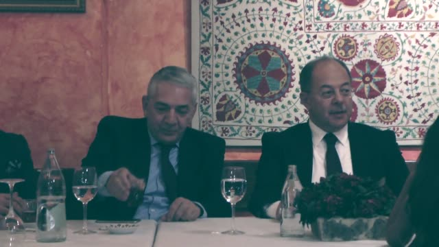 Turkey's Deputy Prime Minister Recep Akdag meets representatives of the Turkish community in capital Madrid on November 09 urging them to form their...