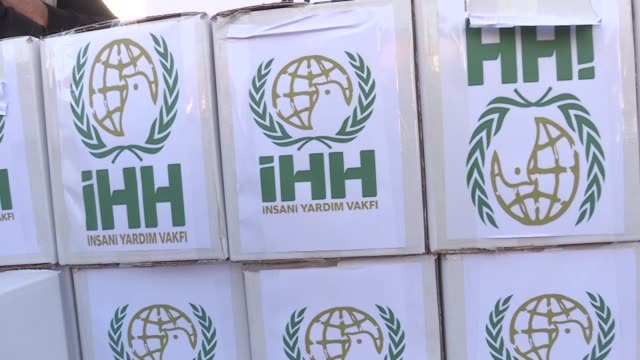Turkey's IHH Humanitarian Relief Foundation distributes food to 250 people in Sulaymaniyah on November 14 2017 Mehmet Akbas the project coordinator...