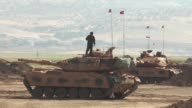 Turkish Armed Forces continue their military exercises on its fifth day in the Silopi and Habur areas on the Iraqi border on September 22 2017 in...