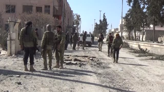 Turkish backed Free Syrian Army forces continue to their offensive as a part of Operation Euphrates Shield to get complete control around city centre...